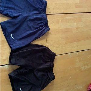 Lot of two boys Nike mesh shorts size 6